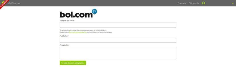 Bol.com shop integreren
