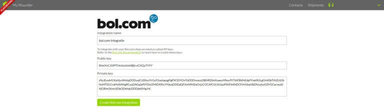 Bol.com integratie