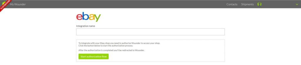 ebay koppeling toevoegen MyWuunder