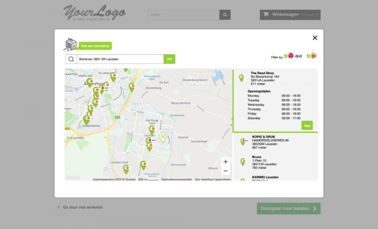 PrestaShop parcelshop locator